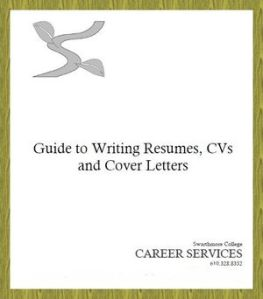 Guide to Writing Resumes, CVs and Cover Letters